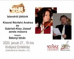 Kissné Révfalvi Andre és Gabrieli-Kiss József zenés műsora