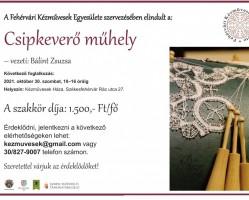 Októberi Csipkeverő műhely a Fehérvári Kézművesek házában