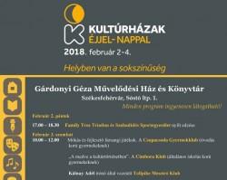 Kultúrházak éjjel-nappal 2018 - A Gárdonyi Géza Művelődési Ház programjai