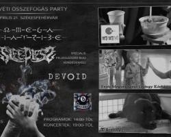 Húsvéti Összefogás Party - Omega Diatribe, Sleepless, +vendégek