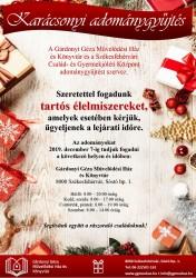 Karácsonyi adománygyűjtés a Gárdonyi Géza Művelődési Ház és Könyvtárban