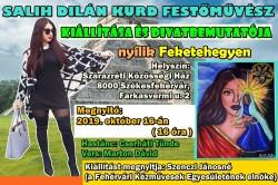Salih Dilán kurd festőművész és divattervező kiállítása