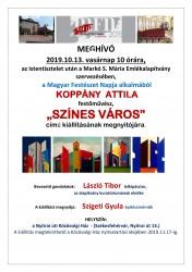 Koppány Attila festőművész  Színes város című kiállítása
