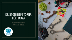 Kriston Intim Torna Alaptanfolyam, Férfiaknak, 2 alkalmas, intenzív hétvégi tréning
