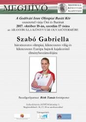Szabó Gabriella háromszoros olimpiai bajnok kajakozónő élménybeszámolója