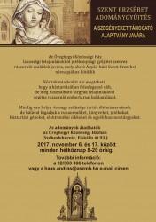 Szent Erzsébet adománygyűjtés