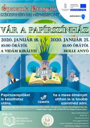 Januárban vár a papírszínház a Székesfehérvári Népmeseponton!