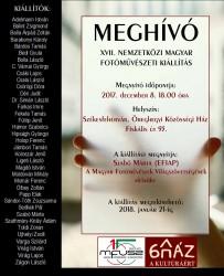 XVII. Nemzetközi Magyar Fotóművészeti kiállítás