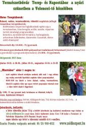 Természetbúvár tereptábor kisiskolásoknak