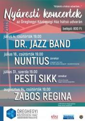 Nyáresti koncertek Öreghegyen: Pesti sikk zenekar