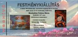 Festménykiállítás- Monhaltné Patkós Mária festőművész alkotásaiból