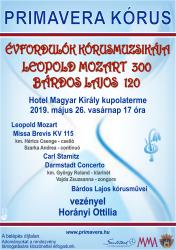 """Évfordulók kórusmuzsikája: Leopold Mozart 300 – Bárdos Lajos 120"" A Primavera Kórus koncertje"