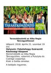 Tavaszköszöntő az Alba Regia Táncegyütessel
