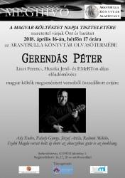 Gerendás Péter előadói estje a magyar költészet napja tiszteletére